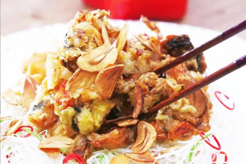 키토산이 풍부해요 '꽃게튀김'+'태국식 커리'