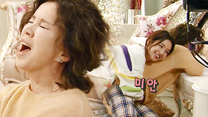 [NG열전] 임예진·남규리, 딸이야 웬수야?! 티격태격 모녀의 '공포의 다리찢기'
