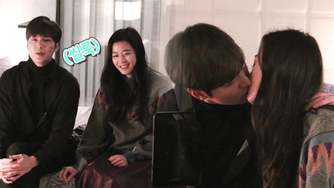 [메이킹] 언제 어느 때든 웃음을 잃지 않는 #준청 커플 (feat. 키스신은 부끄러워) 썸네일 이미지