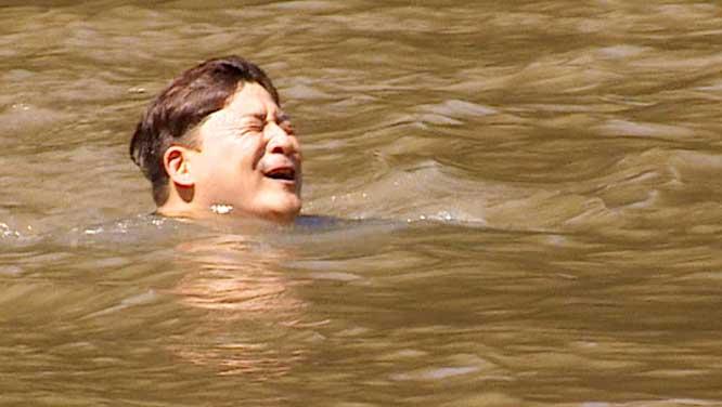 '김숙 떠나 생고생' 윤정수, '정글'에서 급류에 휩쓸려 비상