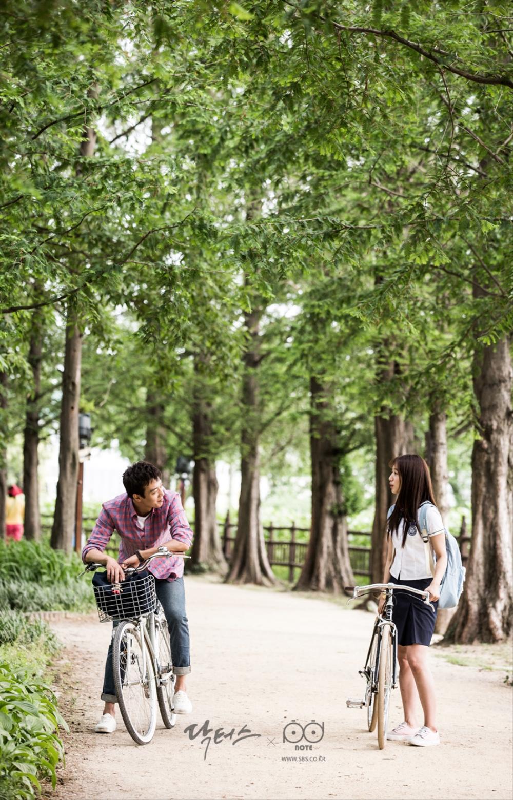 닥터스 포토스케치 호수 공원 길에서 서로 마주 보고 있는 김래원 박신혜
