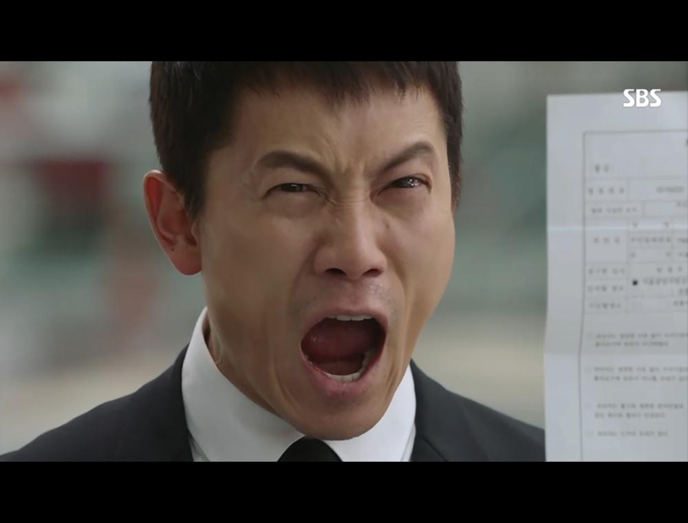 지성 살인혐의 엄기준에게 소리지르는 장면 팬아트
