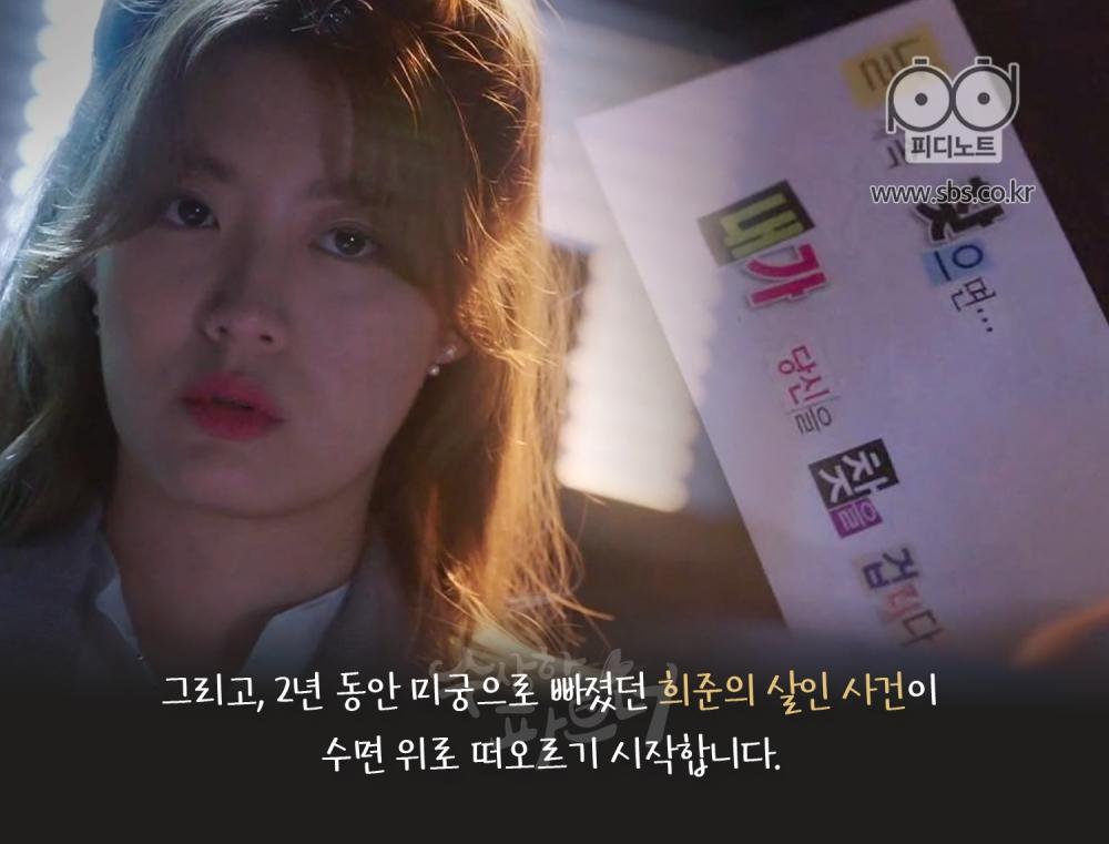 2년 동안 미궁으로 빠졌던 희준의 살인 사건이 수면 위로 떠오른다. 누군가에게 협박 편지를 받은 봉희의 이미지