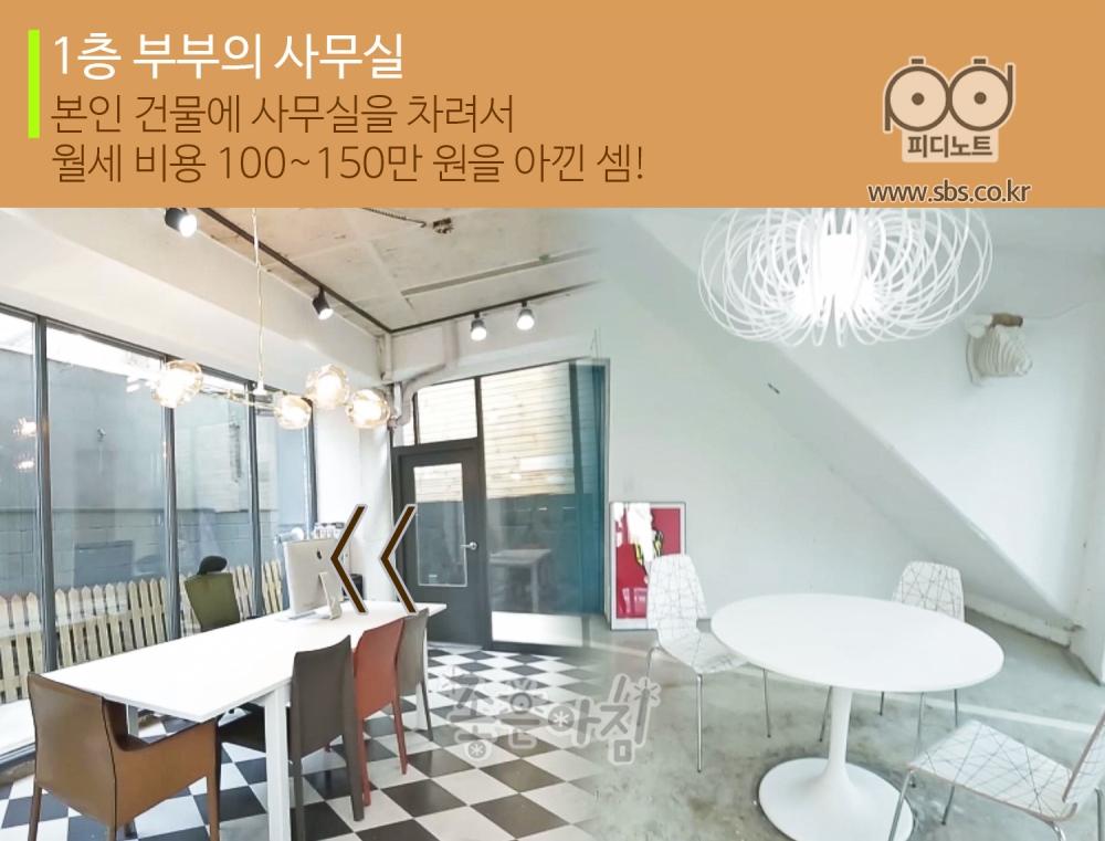 1층 부부의 사무실, 본인 건물에 사무실을 차려서 월세 비용 100에서 150만 원을 아낀 셈!