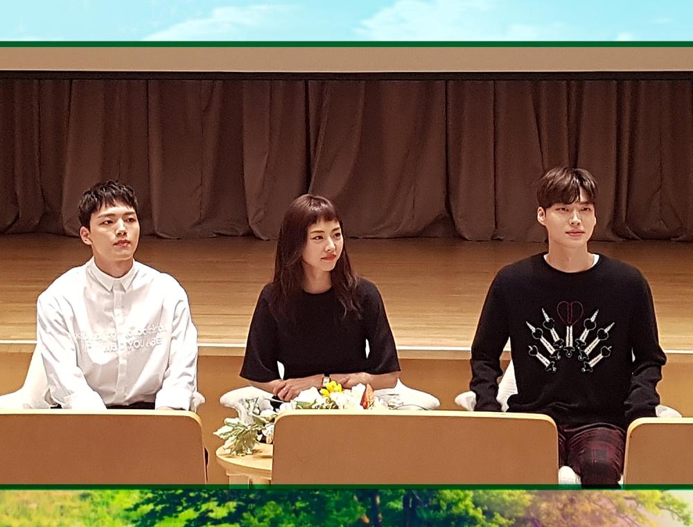 [SBS Only] Live 포토 폰카스케치: 다시 만난 여진구, 이연희, 안재현의 기자간담회 Q&A 모아보기!