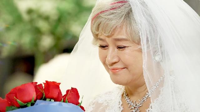합동결혼식날 사랑을 확인하는 박원숙-정한헌