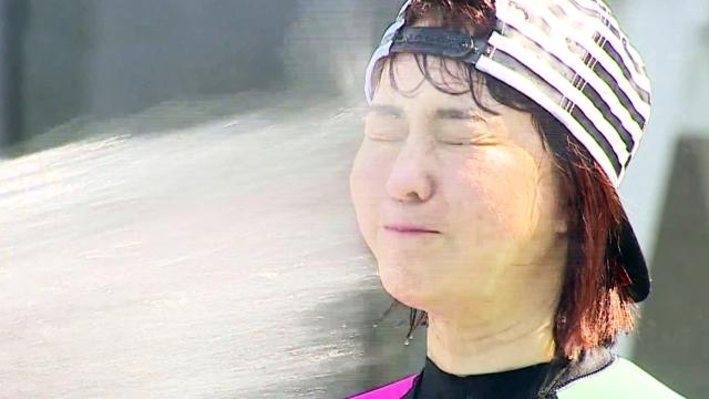 채정안, 김정난에게 물 싸대기 벌칙 수행..'폭소'