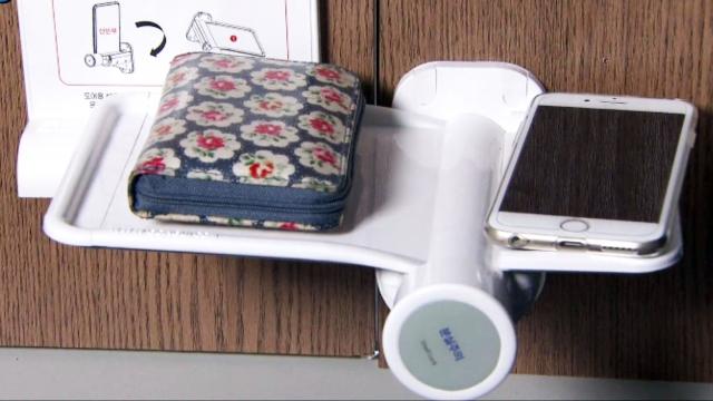 공중화장실 문화를 바꿀 아이디어! 분실방지 선반!