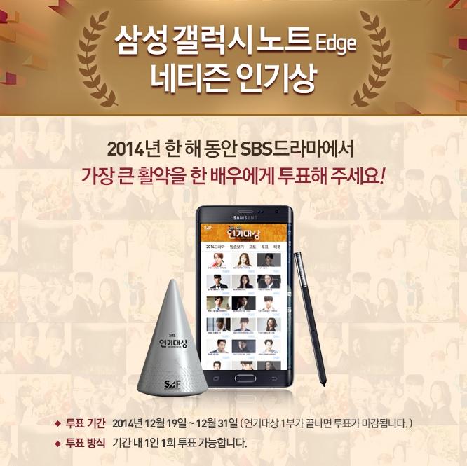 2014 SBS 연기대상 네티즌 인기상