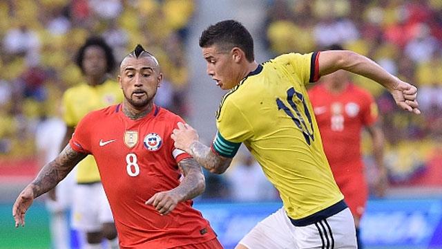 러시아월드컵 남미예선 11라운드<br> 칠레 vs 콜롬비아 하이라이트