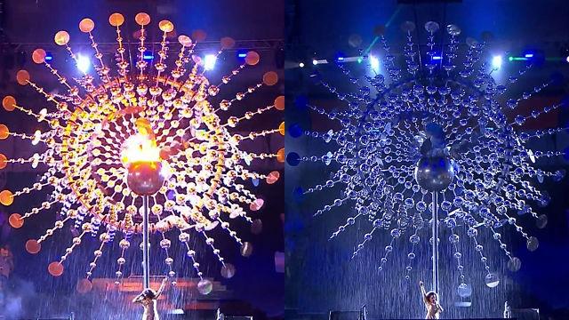 리우올림픽 폐회식 성화 소화