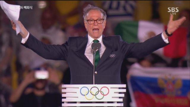 카를루스 누즈만 리우올림픽 조직위원장의 폐회 연설