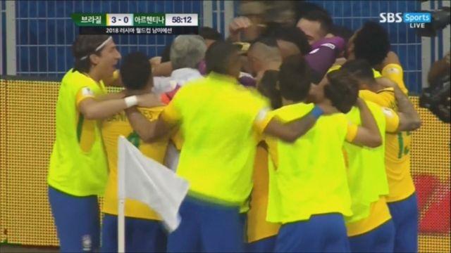 파울리뉴의 세번째 골, 무너지는 아르헨티나 (11.11)