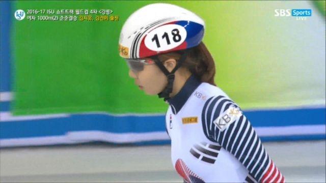 [쇼트트랙 월드컵 4차] 여자 1000m 준준결승 김지유, 김건희