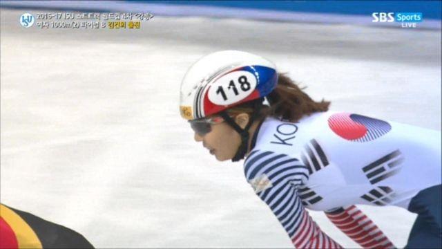 [쇼트트랙 월드컵 4차] 여자 1000m 파이널B 김건희 1위