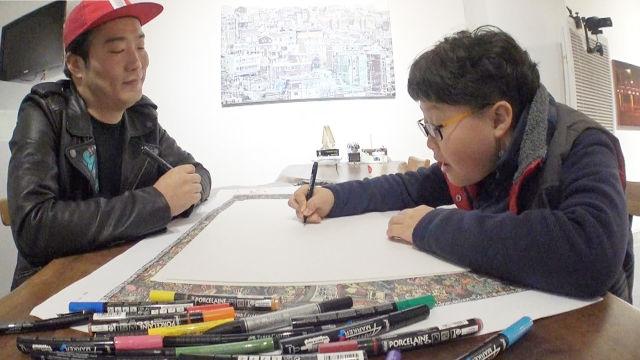 팝 아티스트 작가와 13세 범진이가 나누는 '그림 대화'