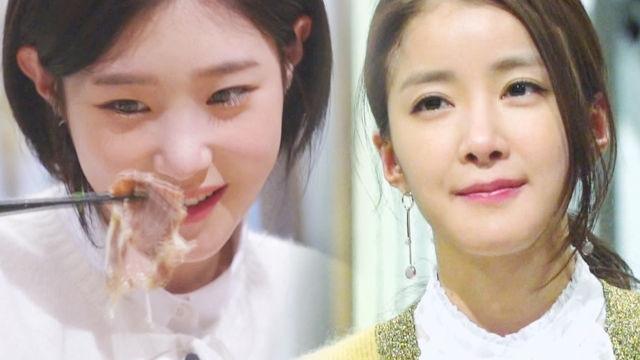 정채연·이시영, 같은 표정 다른 느낌! '쌀국수 먹방'