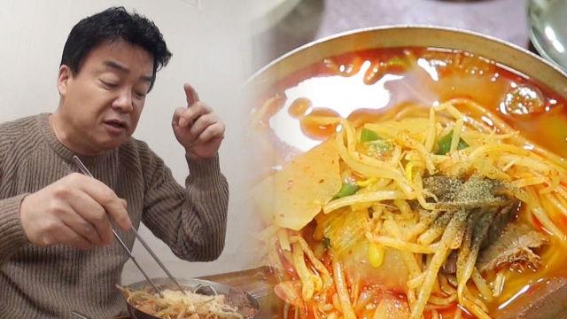 국수와 밥이 섞인 환상적 비주얼 '함안 한우 짬뽕'