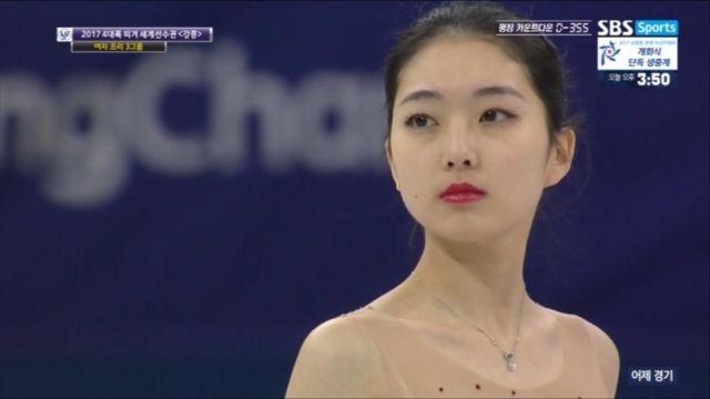 [4대륙 피겨] 여자 프리, 중국 리지준 높은 점수 눈물 펑펑