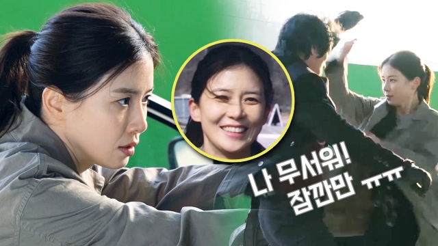 [메이킹] '귓속말' 이보영 첫 액션신 촬영 현장
