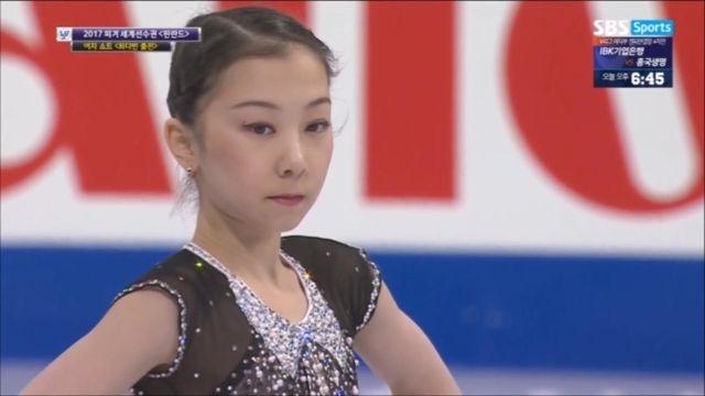 [피겨 세계선수권] 여자 쇼트, 엘리자벳 투르진바예바 ... 썸네일 이미지