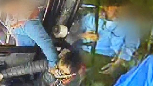 폭행 당하는 버스기사의 애환 '트라우마'