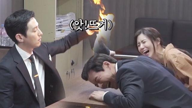 신영주·이동준, 강정일 취조실에서 불놀이야
