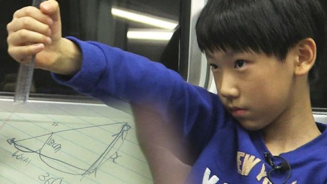 열 살 수학 소년, 지하철에서도 쉼 없는 '계산'