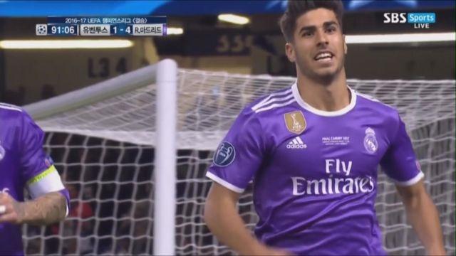 [유벤투스 vs 레알마드리드] 경기 끝내는 아센시오의 쐐기 골