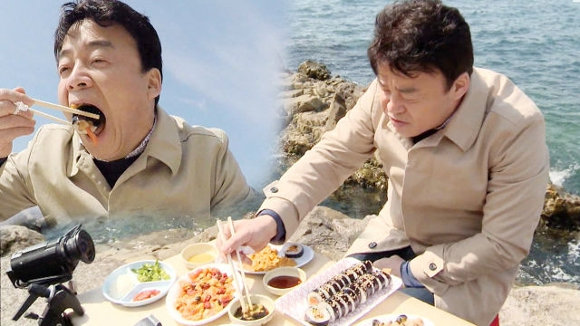 바닷소리를 느끼며 먹는 '부산 해녀 김밥'