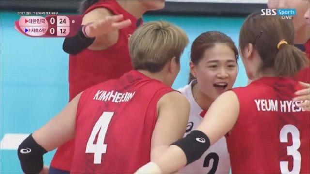 [한국 vs 카자흐스탄] '날카로운 서브' 1세트 가져... 썸네일 이미지