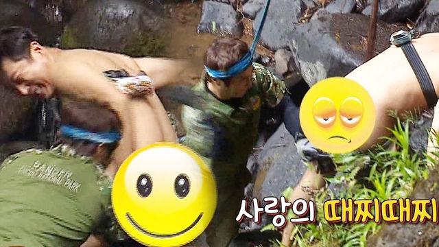 김병만, 이수근 탈의에 '사랑의 엉덩이 때찌'