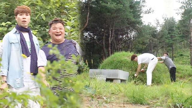 윤정수, 박수홍과 함께 모친 산소 벌초 '뭉클'