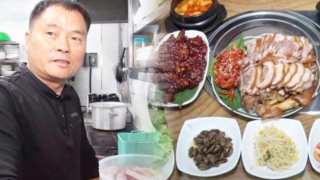 초저가의 품격, 11,900원 무한리필 '족발 삼총사'