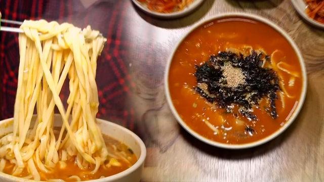 20년 전통, 속초의 맛! 얼큰한 '장칼국수'