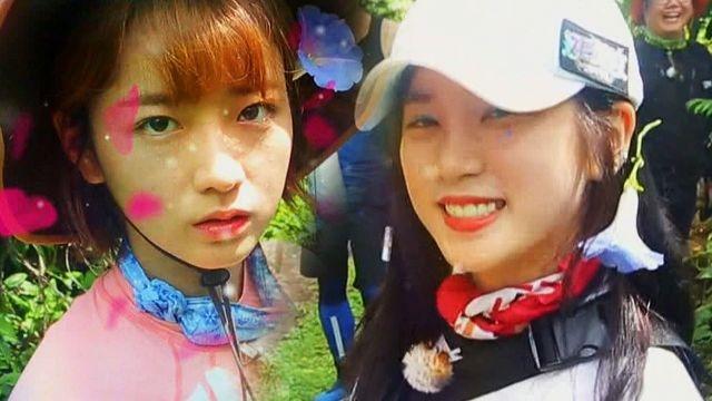 윤보미·박초롱, 머리 꽃 달고 돌기 '눈누난나(?)'