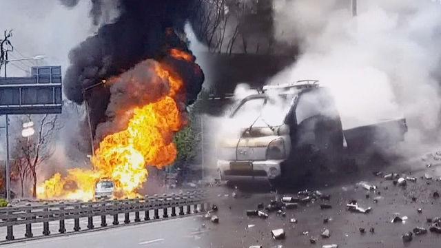 [단독] '위험물 운송 차량'의 위협적인 사고 현장!