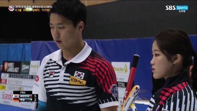 [혼성 컬링 세계선수권] 대한민국 vs 독일 - 5:3... 썸네일 이미지
