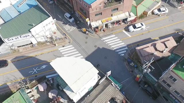 사고 다발구역이 돼버린 '골목 교차로'의 아찔한 현장!