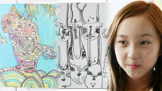 9살 꼬마 화가의 뛰어난 상상력이 만든 작품세계!
