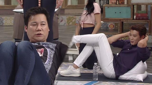 베개를 이용한 쉽고 효과적인 '근력 운동법' 大 공개! (살맛나십쇼)