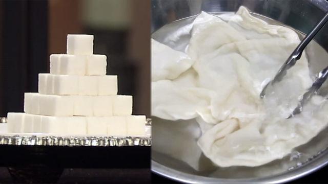 형광증백제 ZERO? 설탕으로 행주 삶는 법 大 공개! (수요일N스타일)