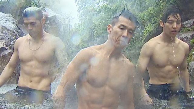 비엠X홍석X션, 멋진 남자들의 빗속의 폭포 다이빙!