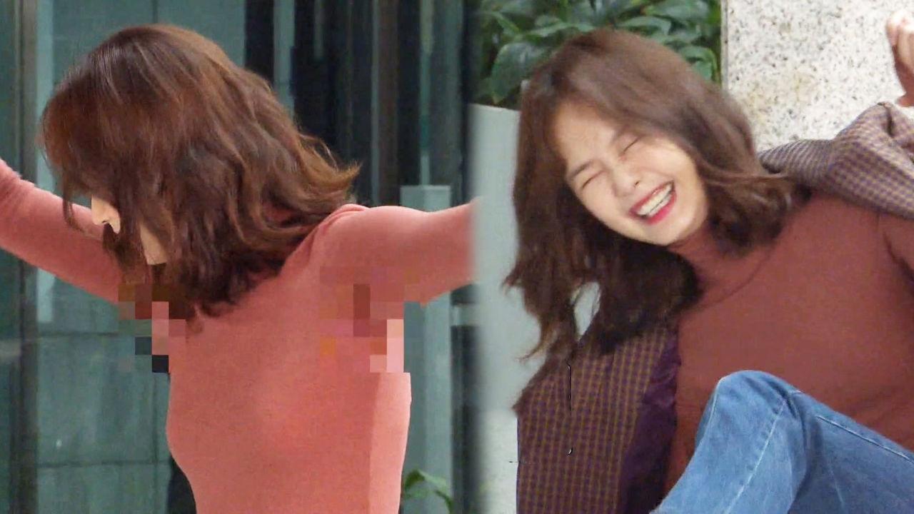 소민아! 너 겨드랑이에! 전소민, 복지 회관 댄스 중 촬영장 초토화