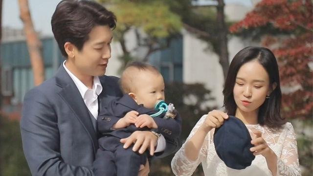 '화보 그 자체' 조현재♡박민정, 아들 우찬이 위한 돌잔치 출발