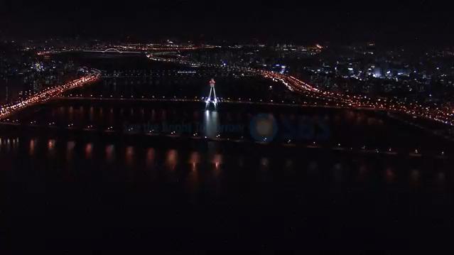 서울시 야경 헬기촬영